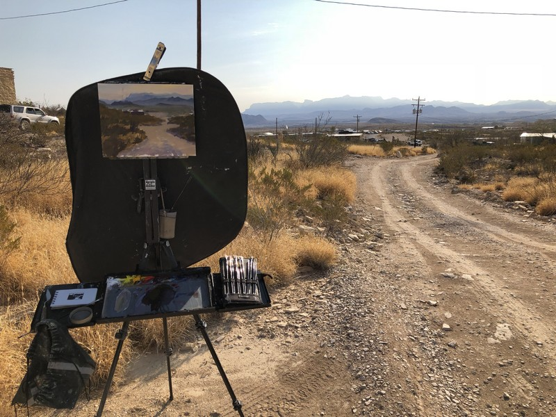 Paint The Town: Plein Air Painting in the Big Bend